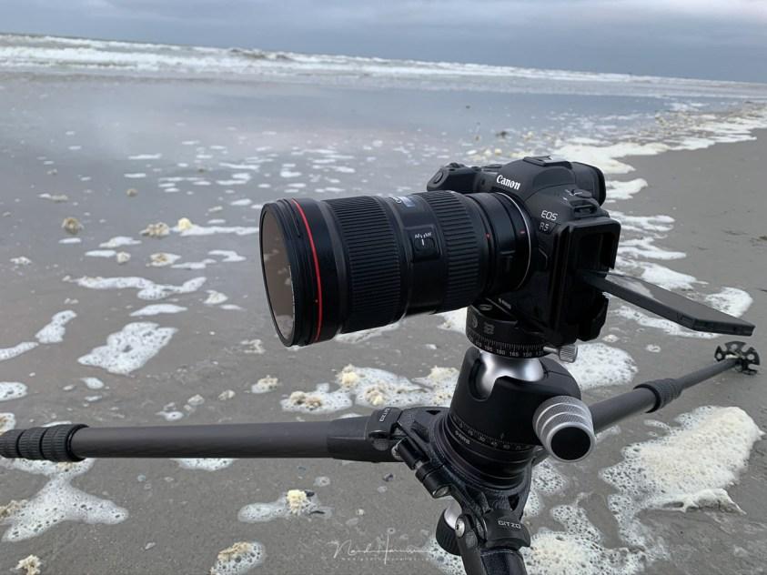 Gebruik filters op het strand van Ameland