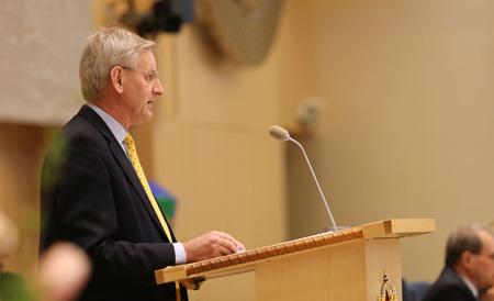 Bildt presents Sweden's foreign policy statement photo: Catarina Axelsson/MFA