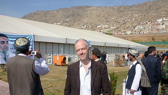 The fallen journalist Nils Horner in Kabul in 2009 Photo: Sveriges Radio