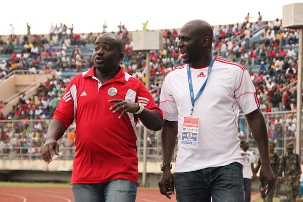 LFA President Musa Bility (left) and Vice President Musa Shannon