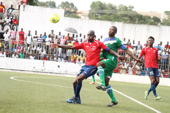 Liberian captain Laffor was on target