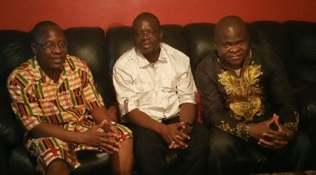 From left, ALJA President Sandy, Chairman Lomax and Mr. Garyou