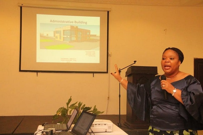 Gbowee talks about plans to construct an all-girl high school