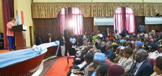 President Sirleaf pays home to partners who helped Liberia achieve peace and stability
