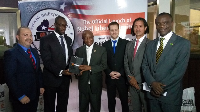 Vice President Boakai (3rd from left) says Liberians must open doors of opportunities that will create jobs