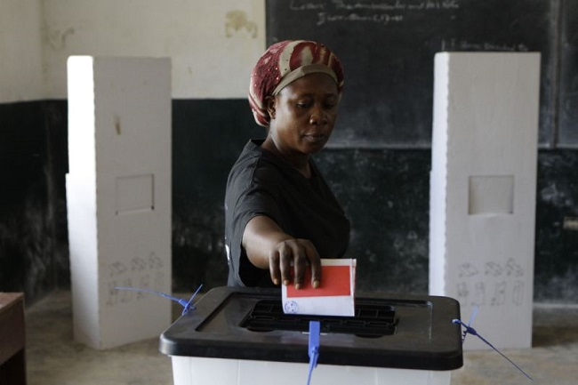 A Liberia woman votes during the 2011 elections Photo: AP
