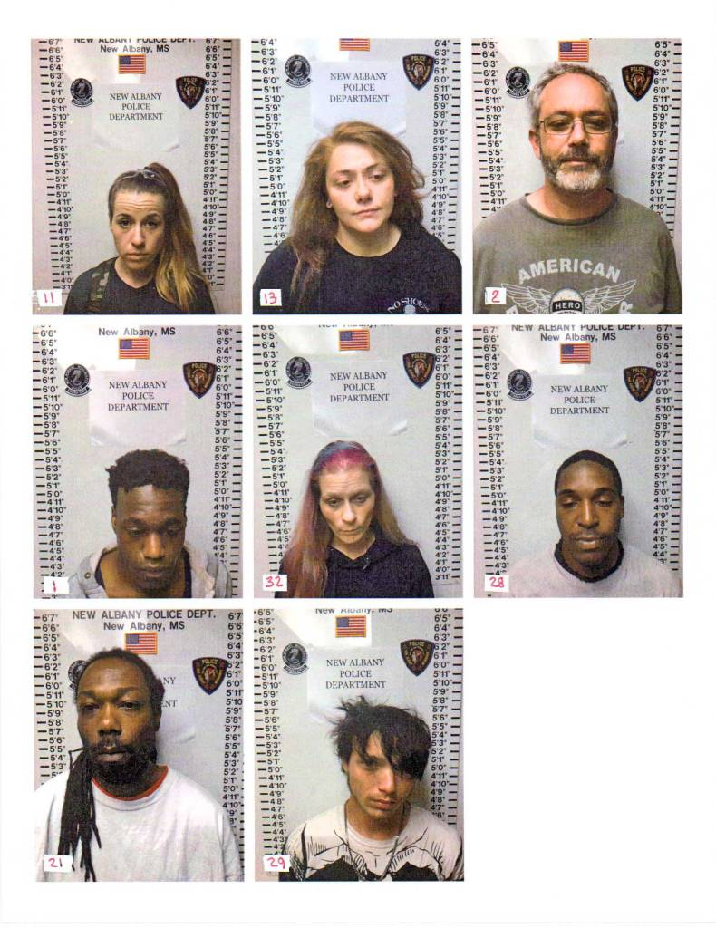 New Albany MS drug arrests 4-11-19