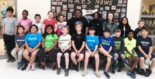 New Albany, MS NAES grade 3-5 Students of Month 5/2019