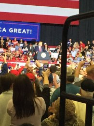 New Albany MS Trump in Tupelo from press cage