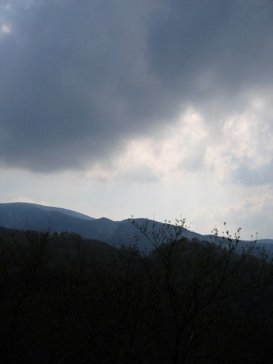 Clouds roll in over the mountains of Nagano.