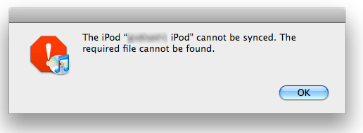 iPod cannot find file