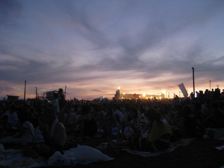 South Beach (with Fuji) during the hanabi