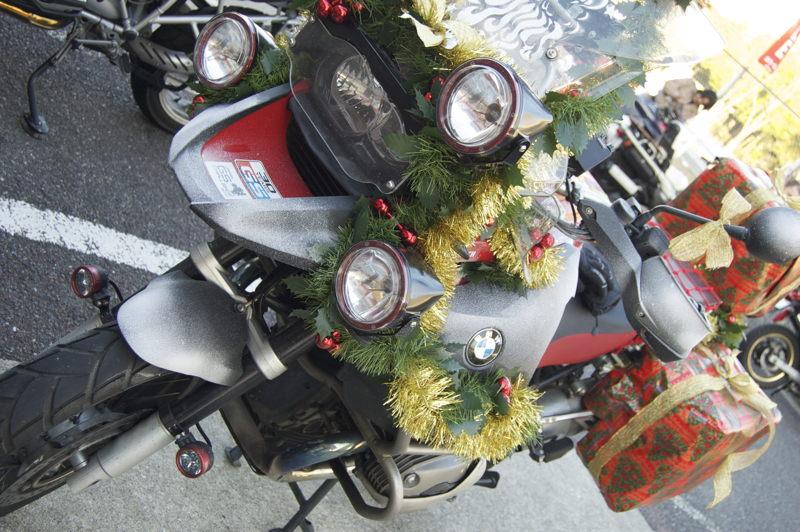 Santas Bike at the Toy Run