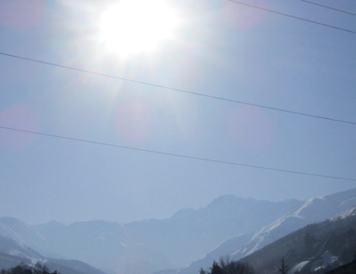 Sun over Hakuba