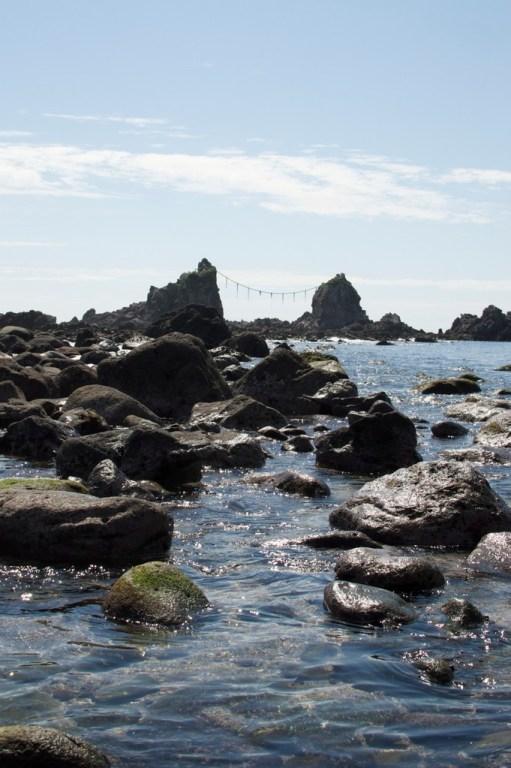 The Three Rock shrine off the coast of Manazuru