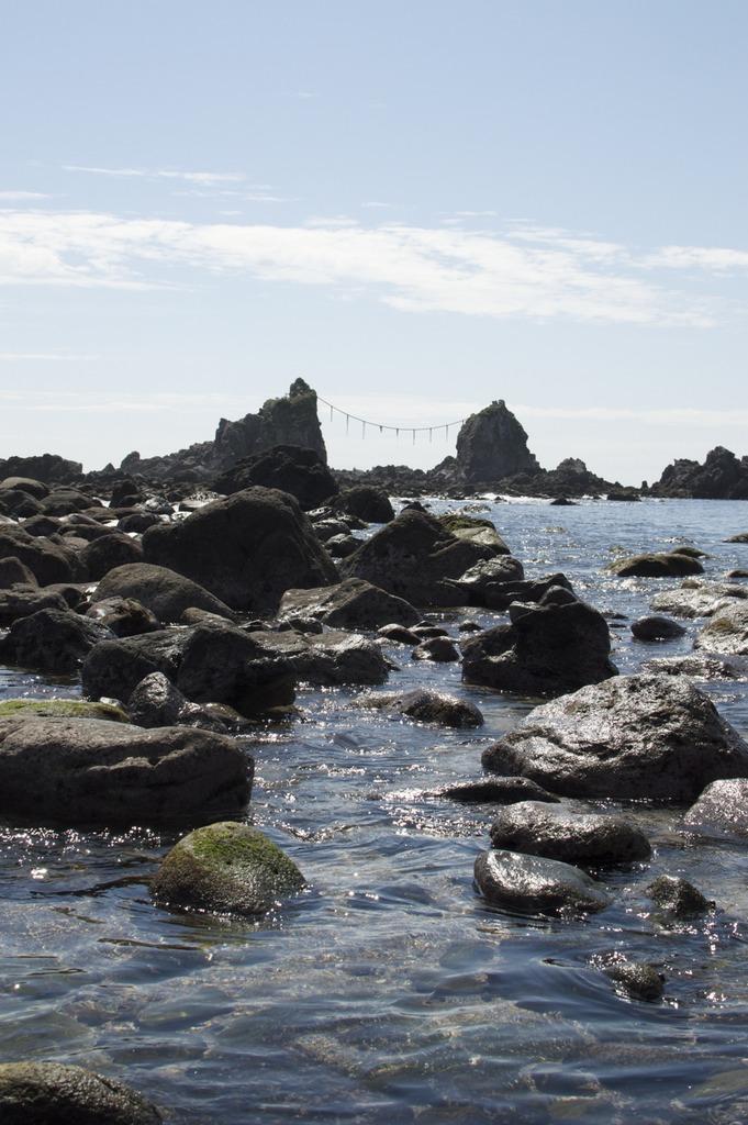 The Three Rock shrine of the Manazuru Cape