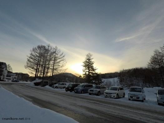 Car parks and snow
