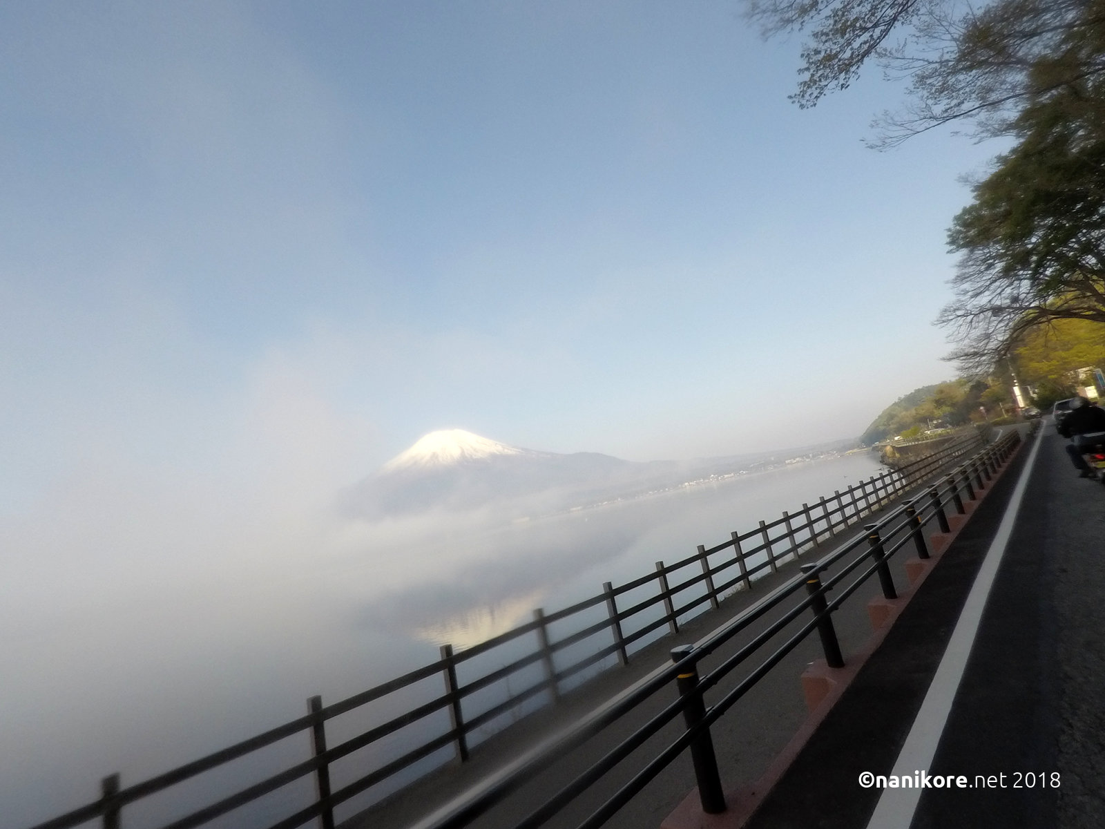 Fuji from the cloud
