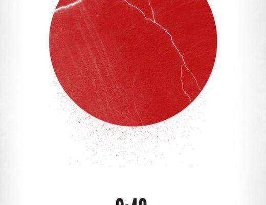 2:46 quakebook about the 2011 quakes shows a broken hinomaru