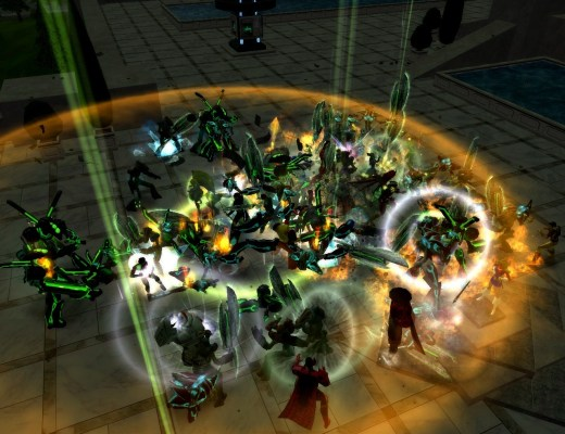 City of Heroes mass brawl