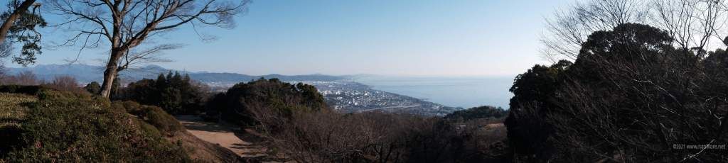 Views from the old Ishigakiyama castle area