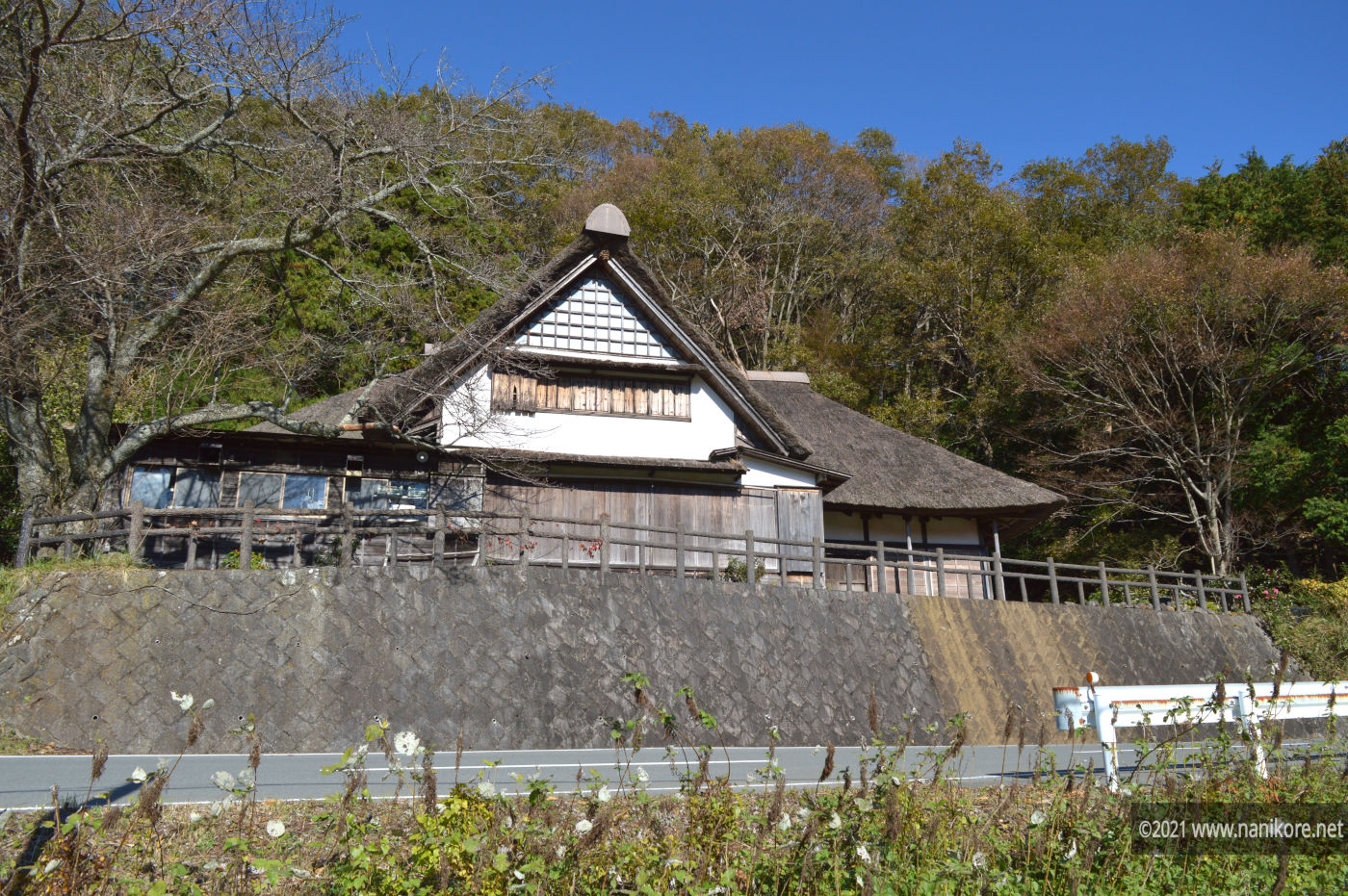 Izu farmhouses with thatched roof