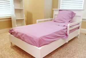 Toddler bed with mattress