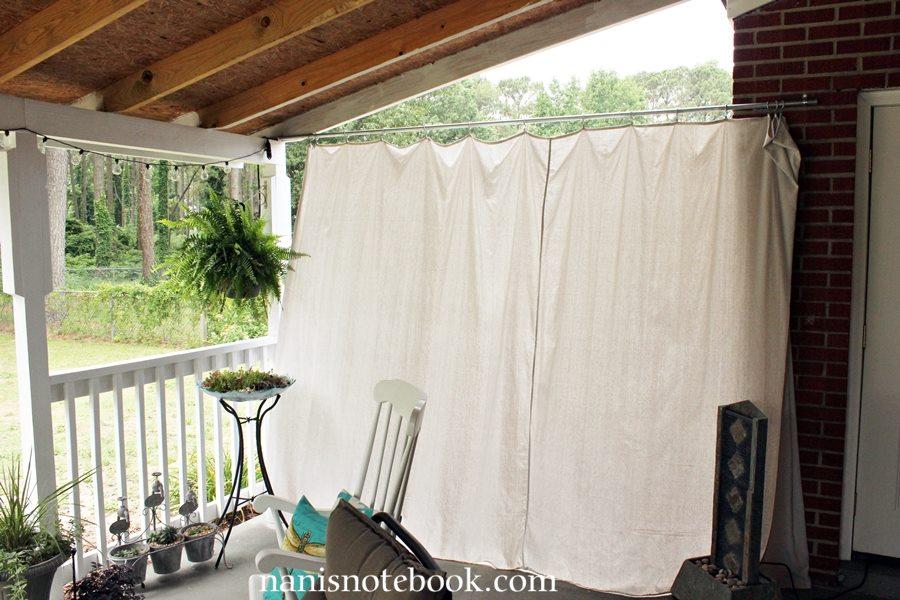 Easy Dropcloth Patio Curtain