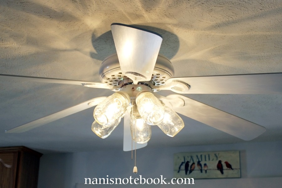 Mason Jar Ceiling Fan