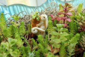 Make a Miniature Garden with Bunnies