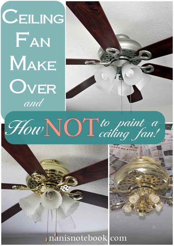 Paint a Ceiling Fan