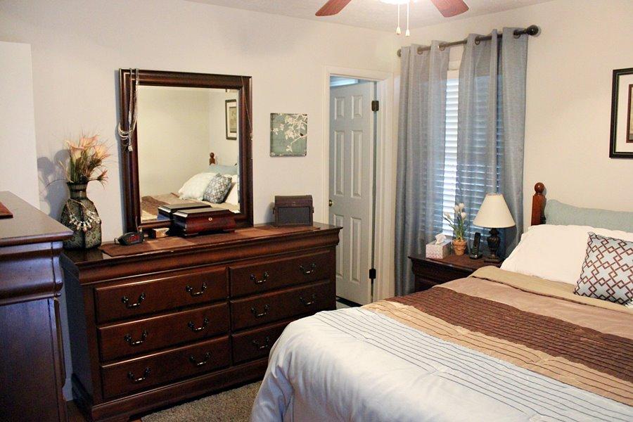 Teal Brown Master Bedroom