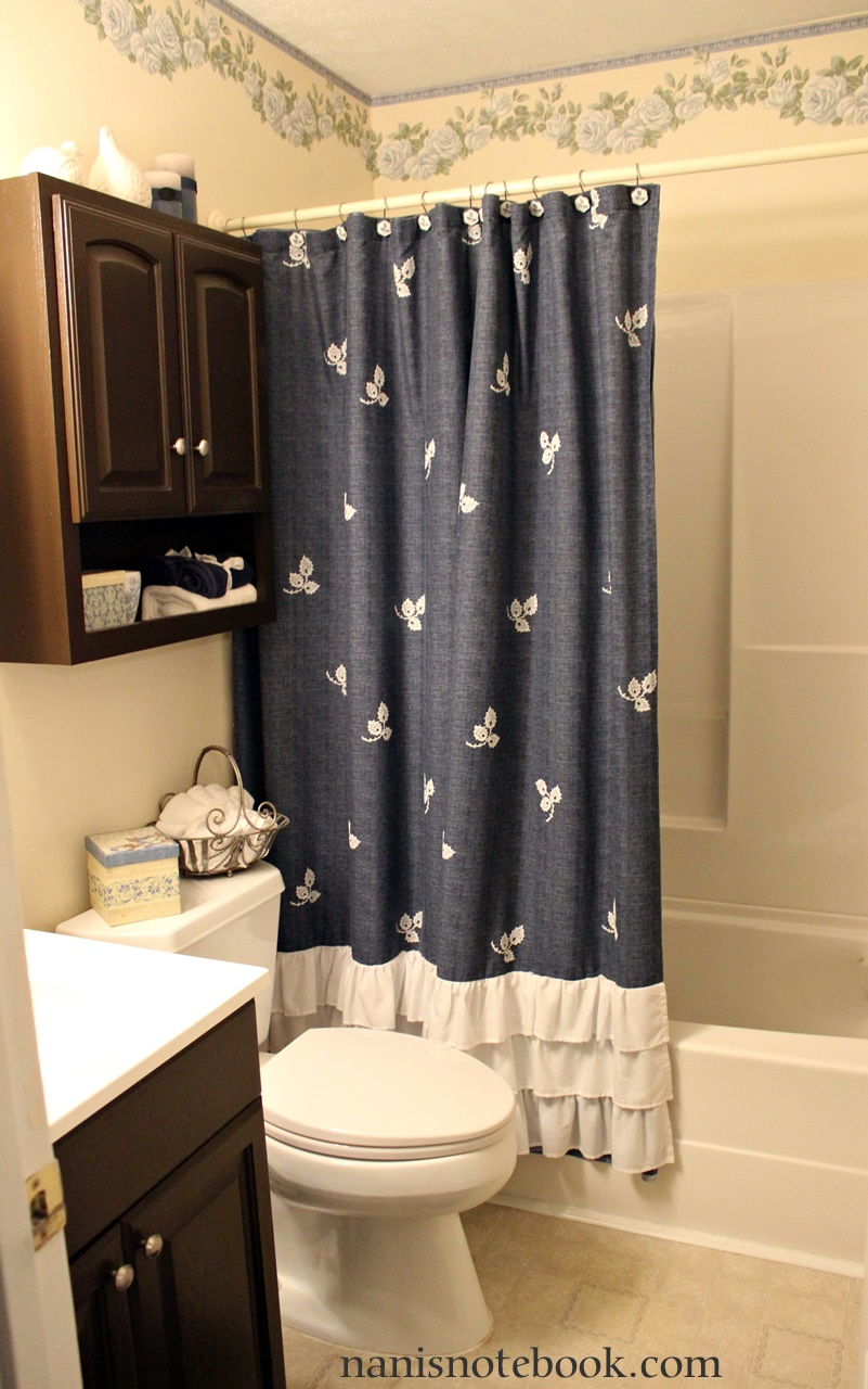 Blue Guest Bath Makeover