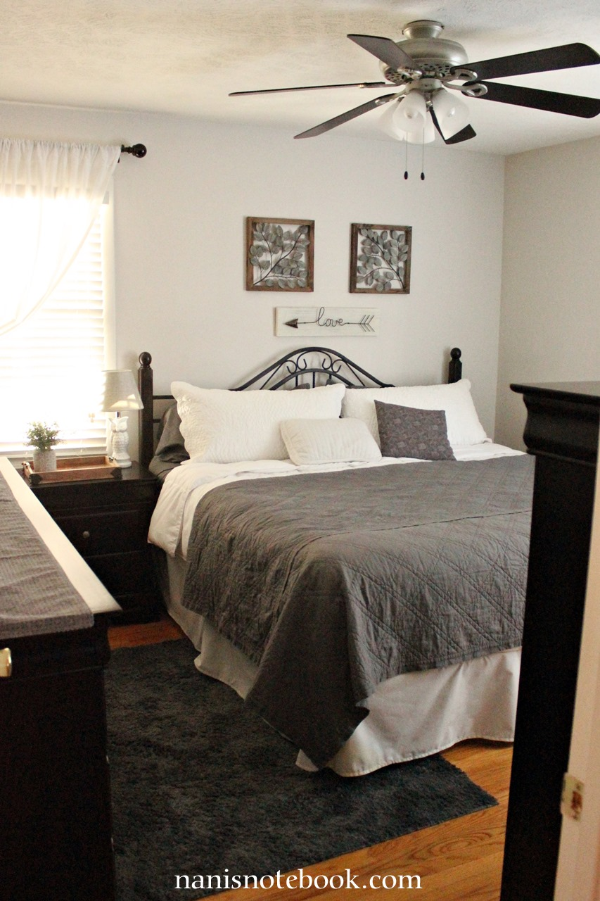 Shades of Gray Bedroom Makeover