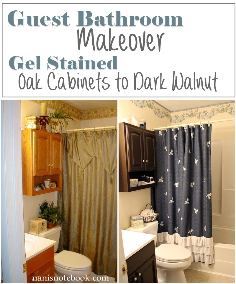 Gel Stain Bathroom Makeover