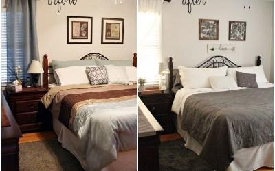 Shades of Gray Master Bedroom Makeover