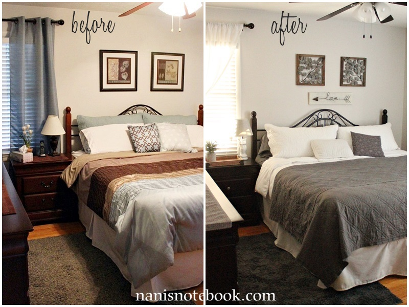 Gray Bedroom Makeover