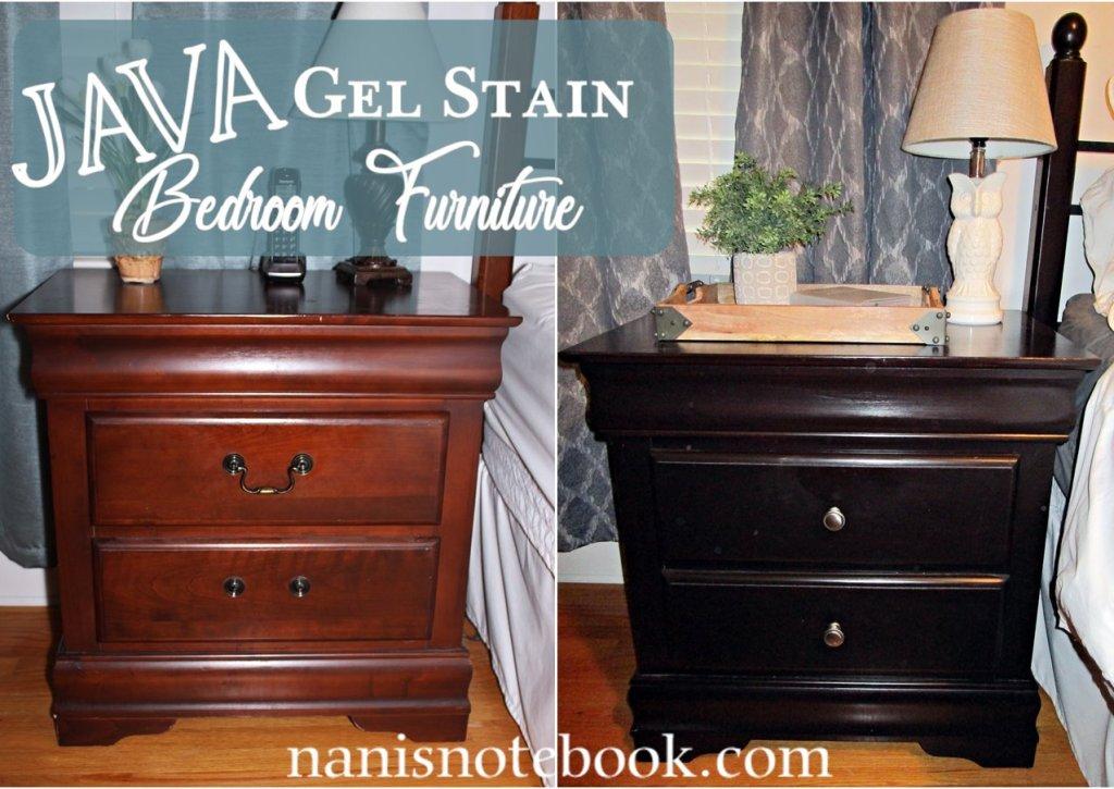 java gel stain bedroom furniture