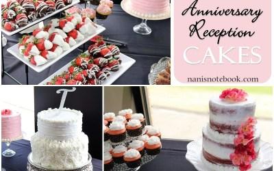 Anniversary Reception Cakes