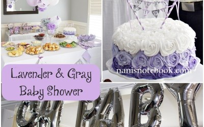 Lavender and Gray Baby Shower