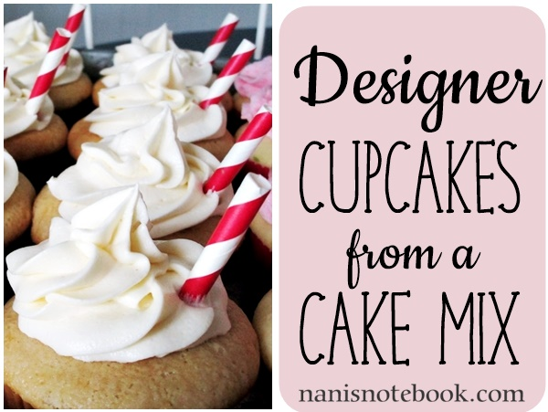 Designer Flavored Cupcakes from a Cake Mix