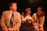 "Brian Habicht as Norman, Kelly Keaton as Clara, Christi Marsico as Sheila in Actors Co-op production of ""The Boys Next Door"" by Tom Griffin, directed by Nan McNamara"