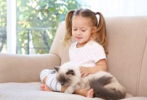 παιδί και γάτα