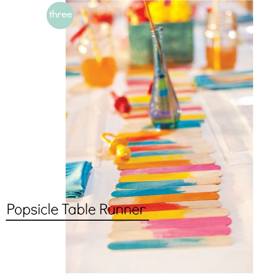DIY Popsicle Table Runner