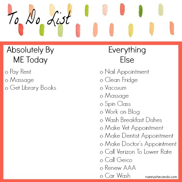 manage your to do list - the guilt free parent