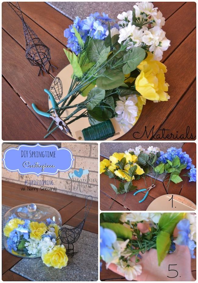 springtime centrepiece, step into spring, sheridan anne