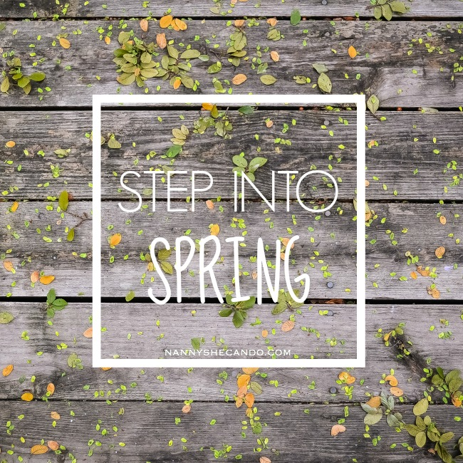 step into spring, spring post series