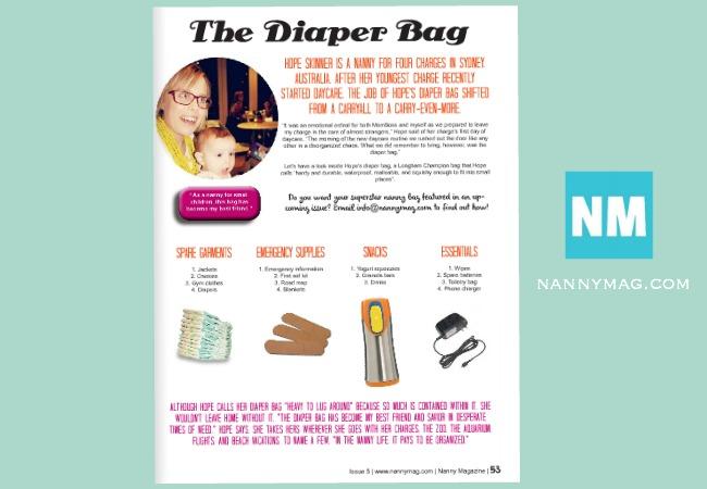 Nanny Mag, diaper bag