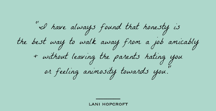 Nanny Industry Spotlight, Lani Hopcroft