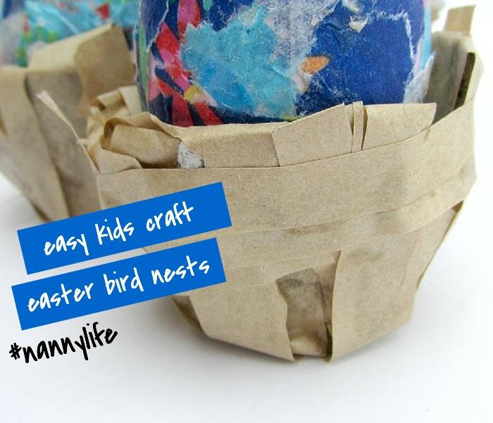 DIY Egg Carton Easter Egg Nests, NANNY SHECANDO